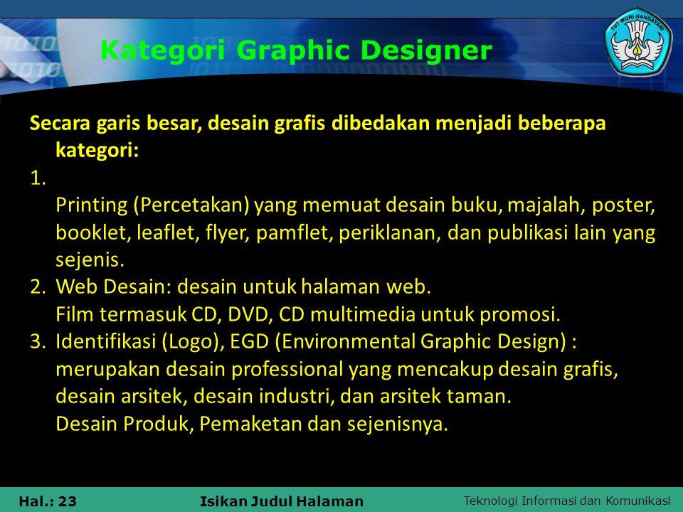 Kategori Graphic Designer