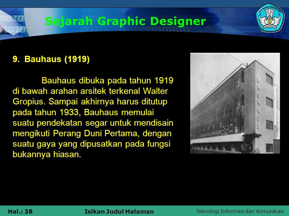 Sejarah Graphic Designer