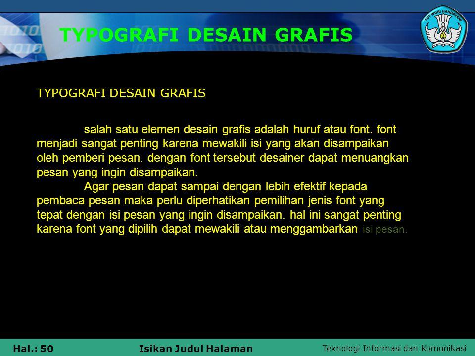 TYPOGRAFI DESAIN GRAFIS