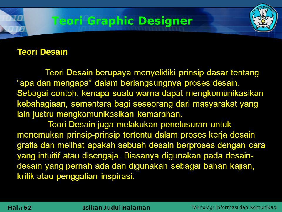 Teori Graphic Designer