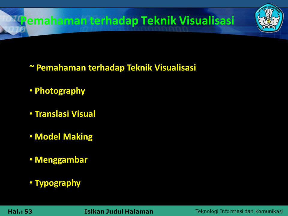 Pemahaman terhadap Teknik Visualisasi