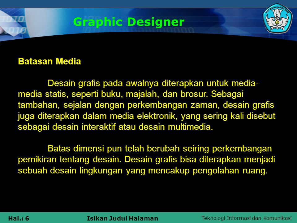 Graphic Designer Batasan Media