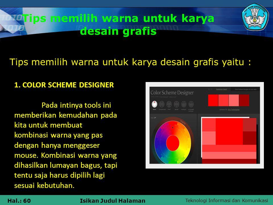 Tips memilih warna untuk karya desain grafis