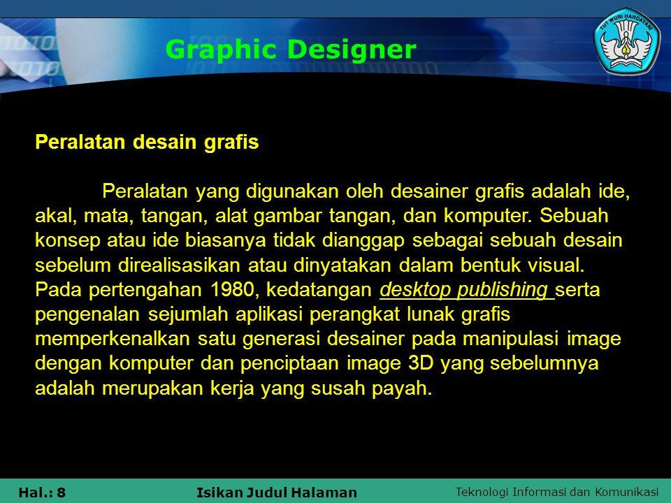 Graphic Designer Peralatan desain grafis