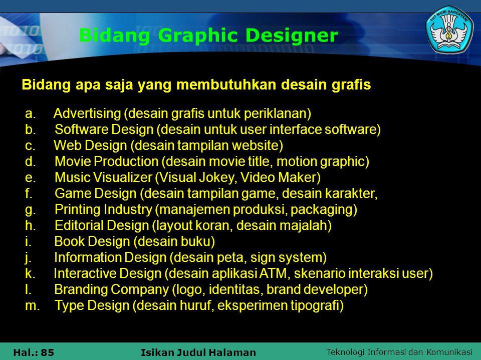 Bidang Graphic Designer