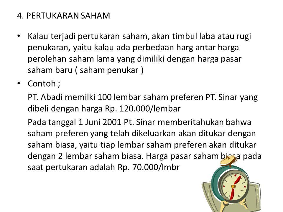4. PERTUKARAN SAHAM