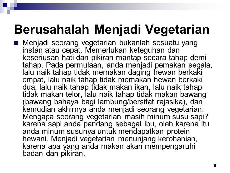 Berusahalah Menjadi Vegetarian
