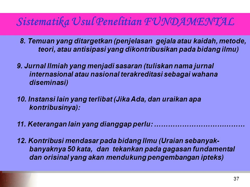 Sistematika Usul Penelitian FUNDAMENTAL