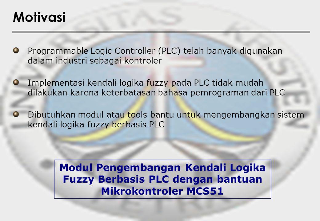 Motivasi Programmable Logic Controller (PLC) telah banyak digunakan dalam industri sebagai kontroler.