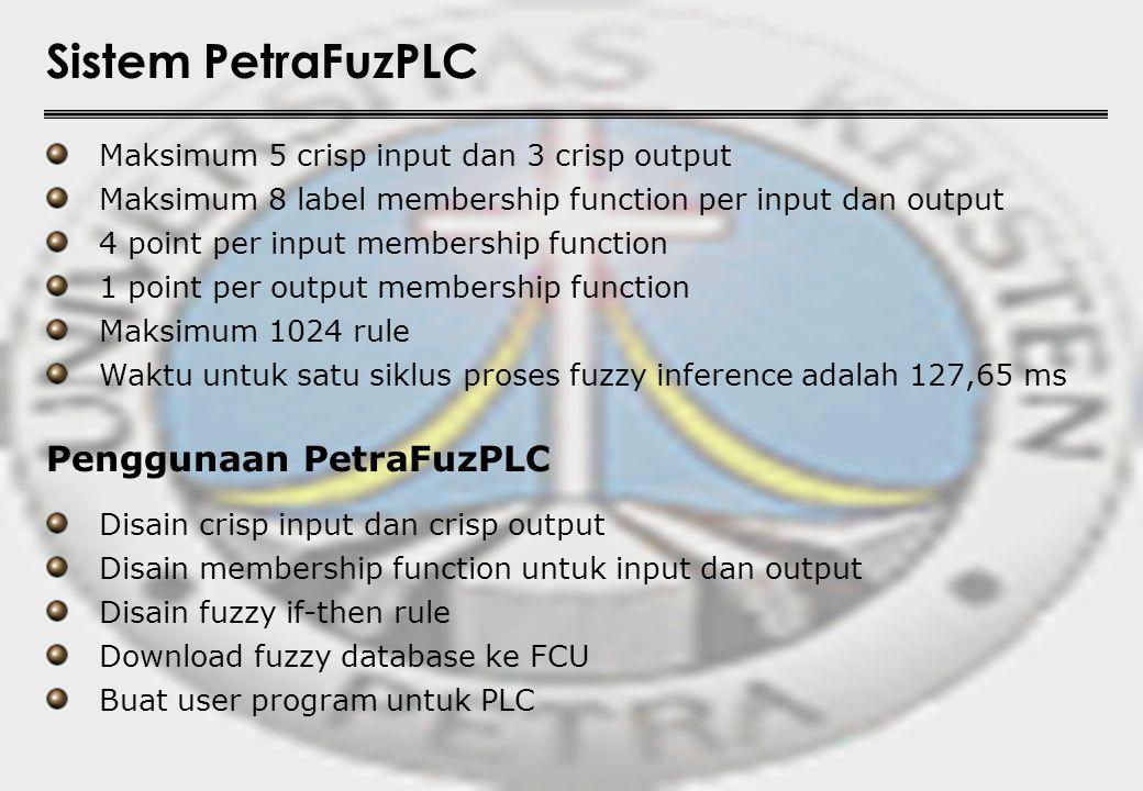 Sistem PetraFuzPLC Penggunaan PetraFuzPLC