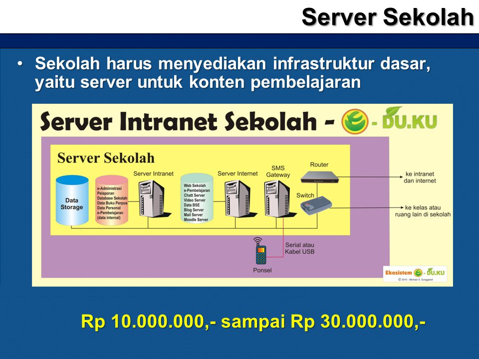 Server Sekolah Rp 10.000.000,- sampai Rp 30.000.000,-
