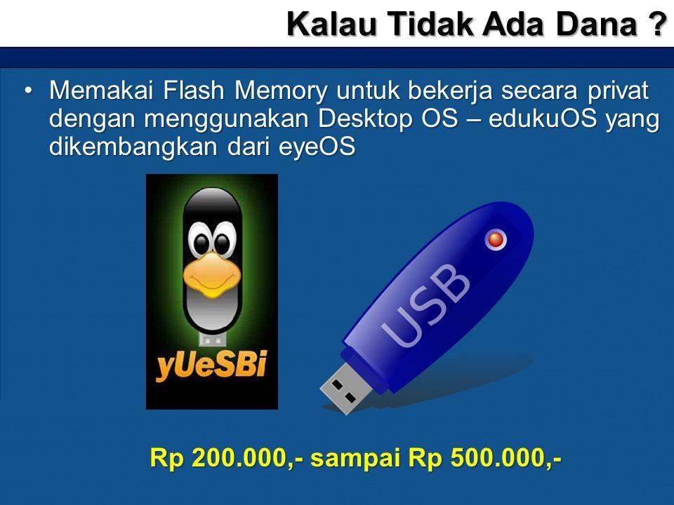 Kalau Tidak Ada Dana Memakai Flash Memory untuk bekerja secara privat dengan menggunakan Desktop OS – edukuOS yang dikembangkan dari eyeOS.