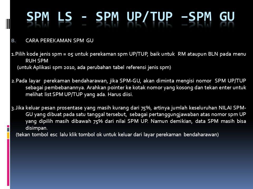 SPM LS - SPM UP/TUP –spm gu