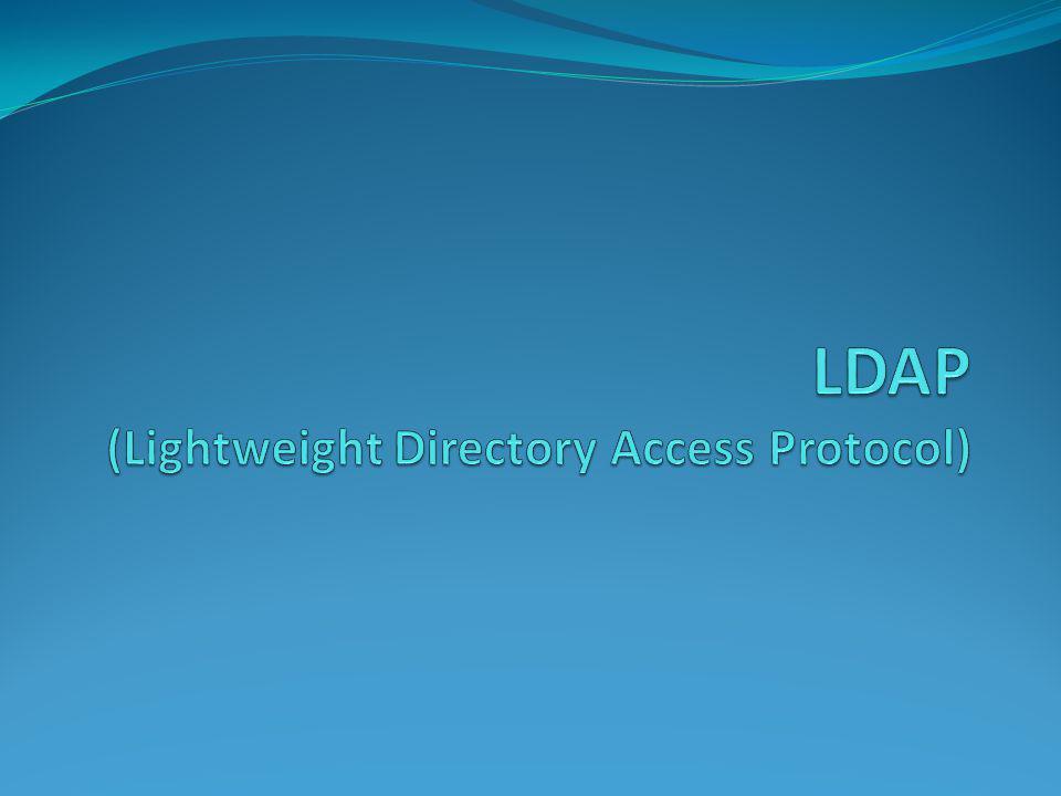 LDAP (Lightweight Directory Access Protocol)