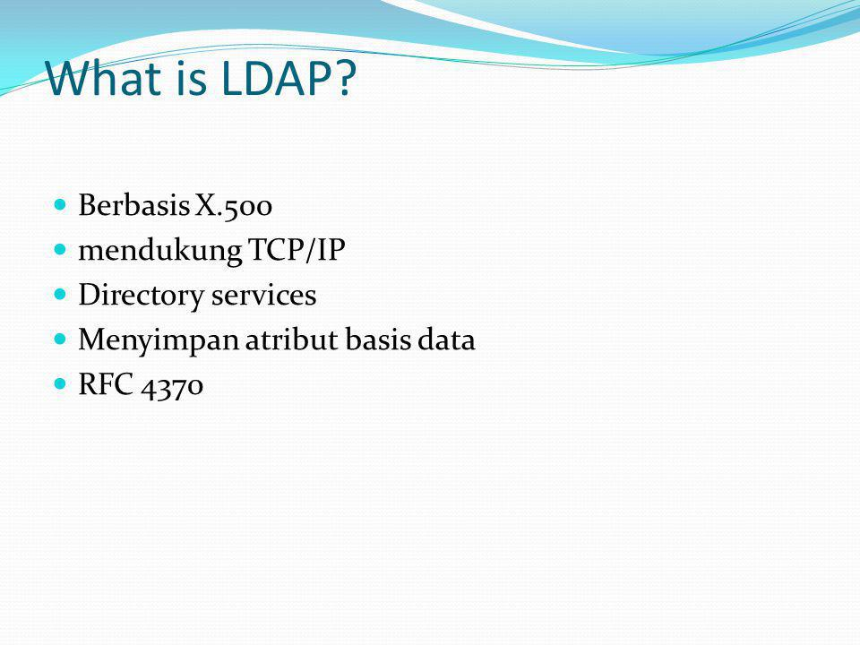 What is LDAP Berbasis X.500 mendukung TCP/IP Directory services
