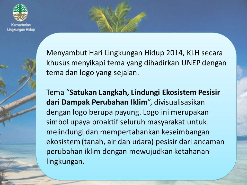 Menyambut Hari Lingkungan Hidup 2014, KLH secara khusus menyikapi tema yang dihadirkan UNEP dengan tema dan logo yang sejalan.