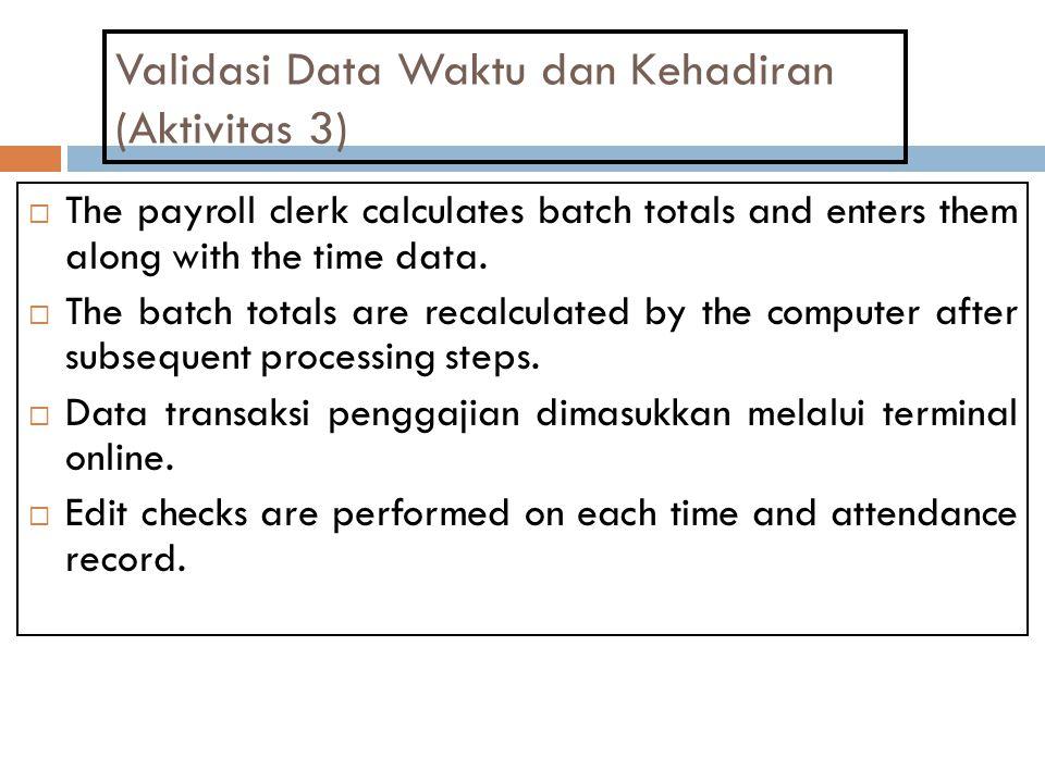 Validasi Data Waktu dan Kehadiran (Aktivitas 3)