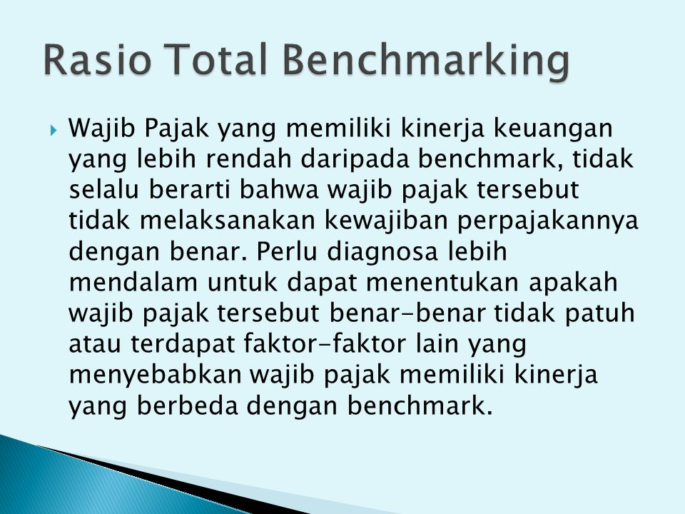 Rasio Total Benchmarking
