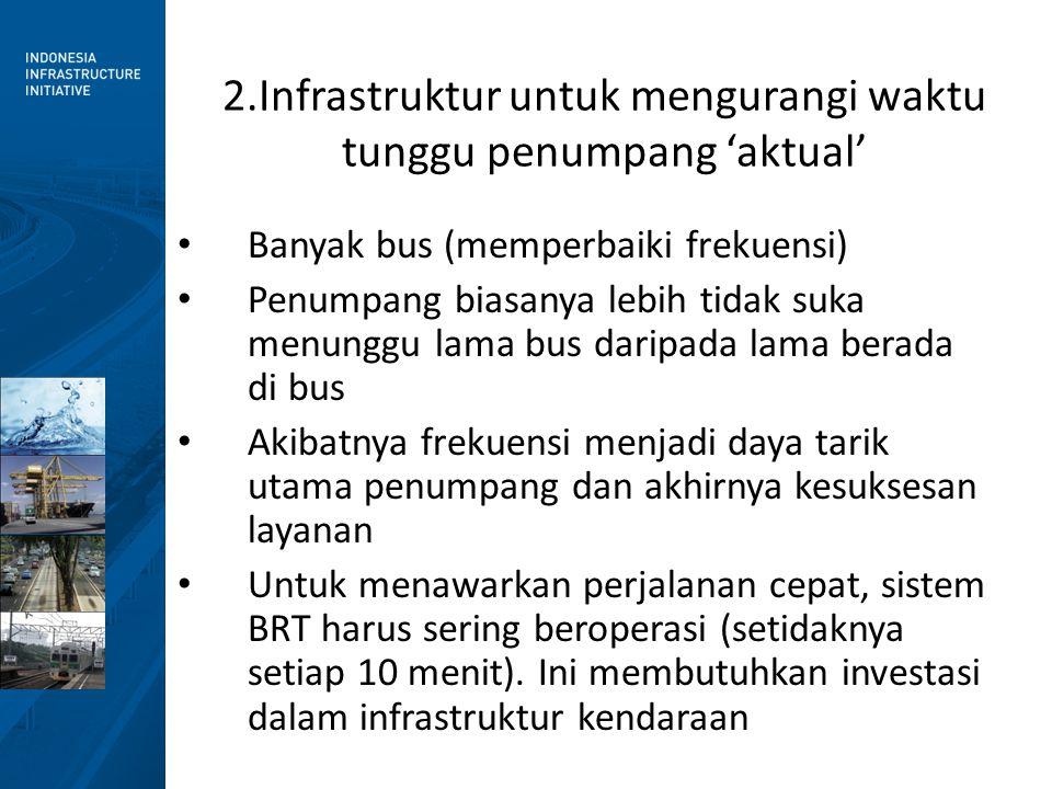 2.Infrastruktur untuk mengurangi waktu tunggu penumpang 'aktual'