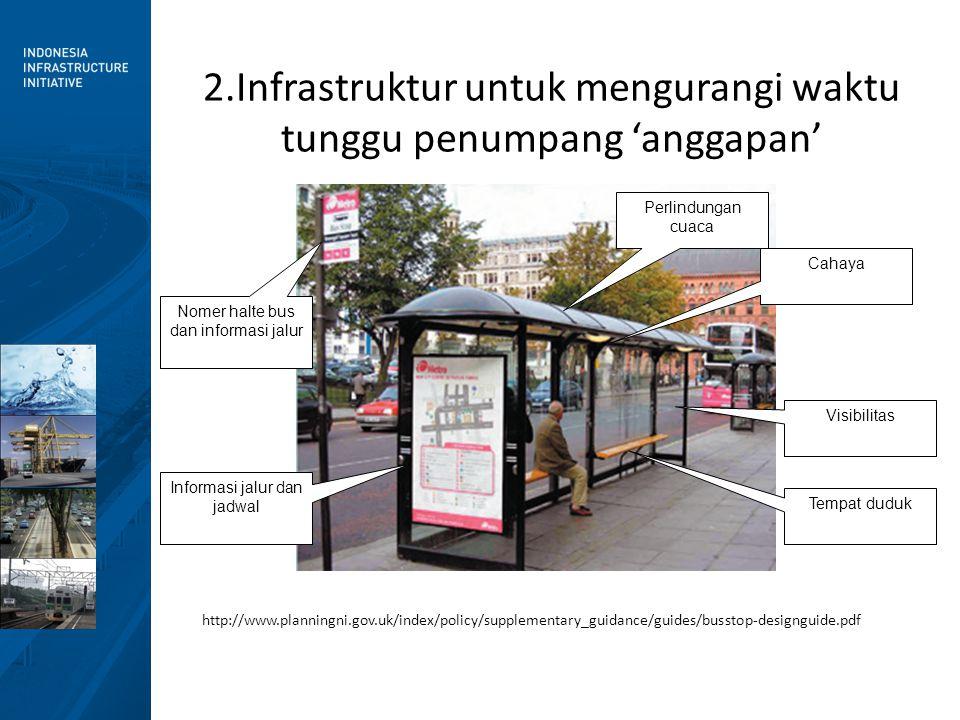 2.Infrastruktur untuk mengurangi waktu tunggu penumpang 'anggapan'