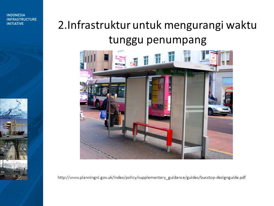 2.Infrastruktur untuk mengurangi waktu tunggu penumpang