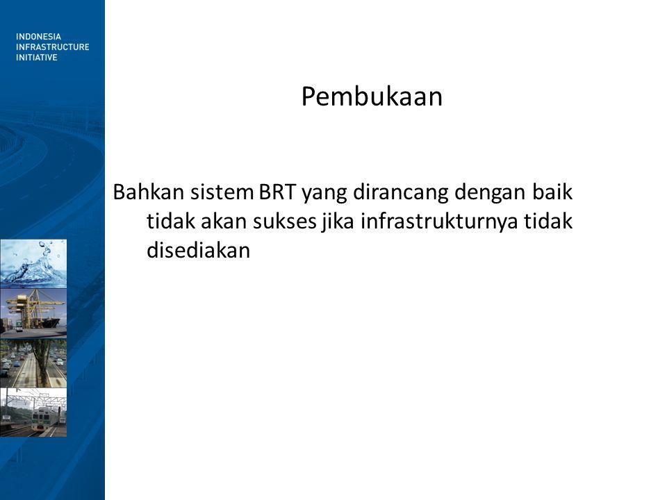 Pembukaan Bahkan sistem BRT yang dirancang dengan baik tidak akan sukses jika infrastrukturnya tidak disediakan.