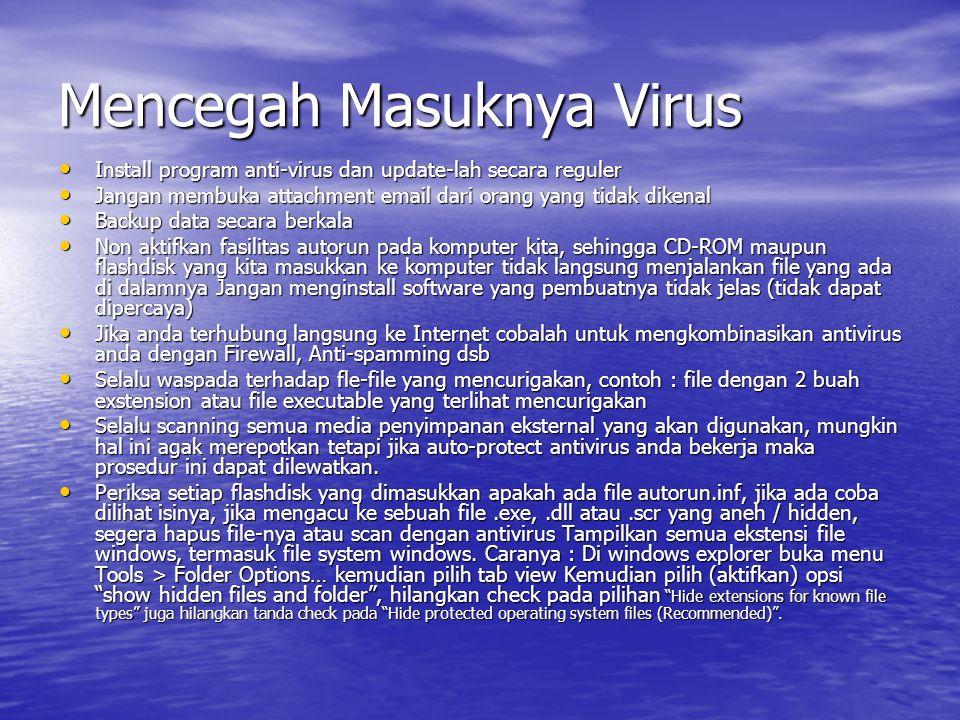 Mencegah Masuknya Virus