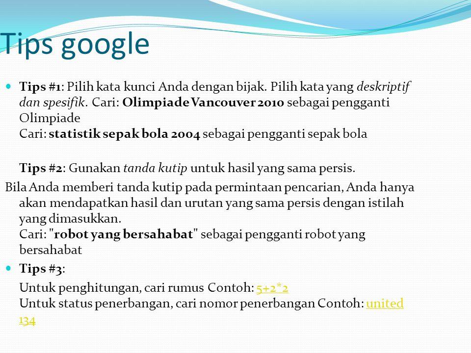 Tips google