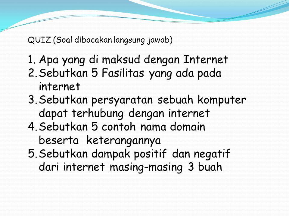 Apa yang di maksud dengan Internet
