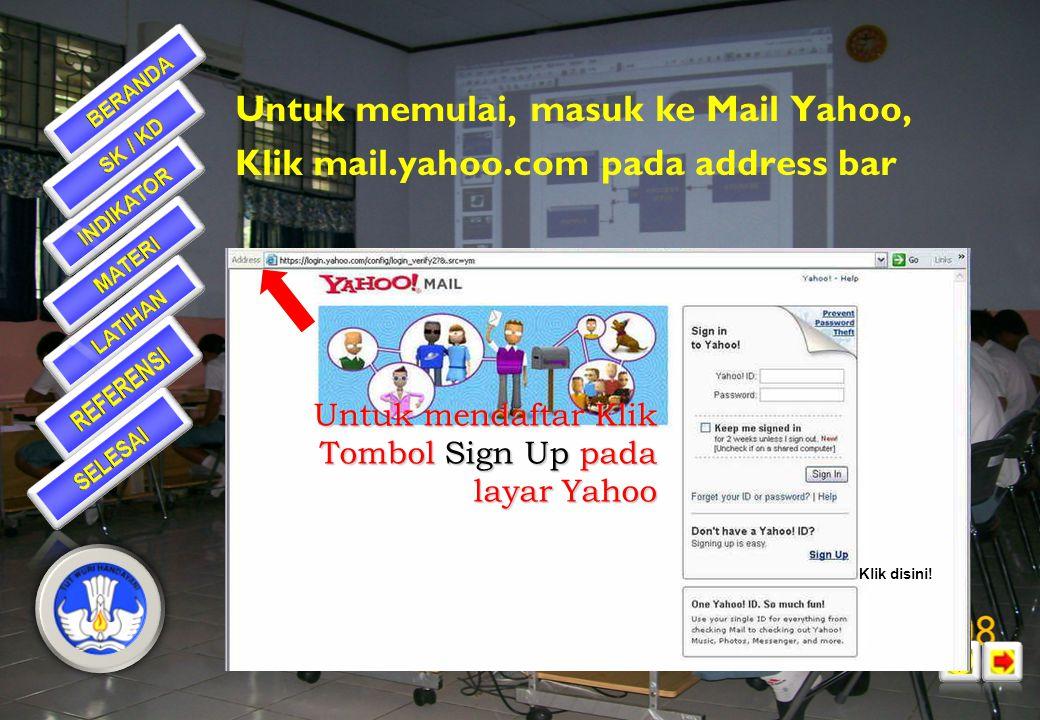 Untuk memulai, masuk ke Mail Yahoo,