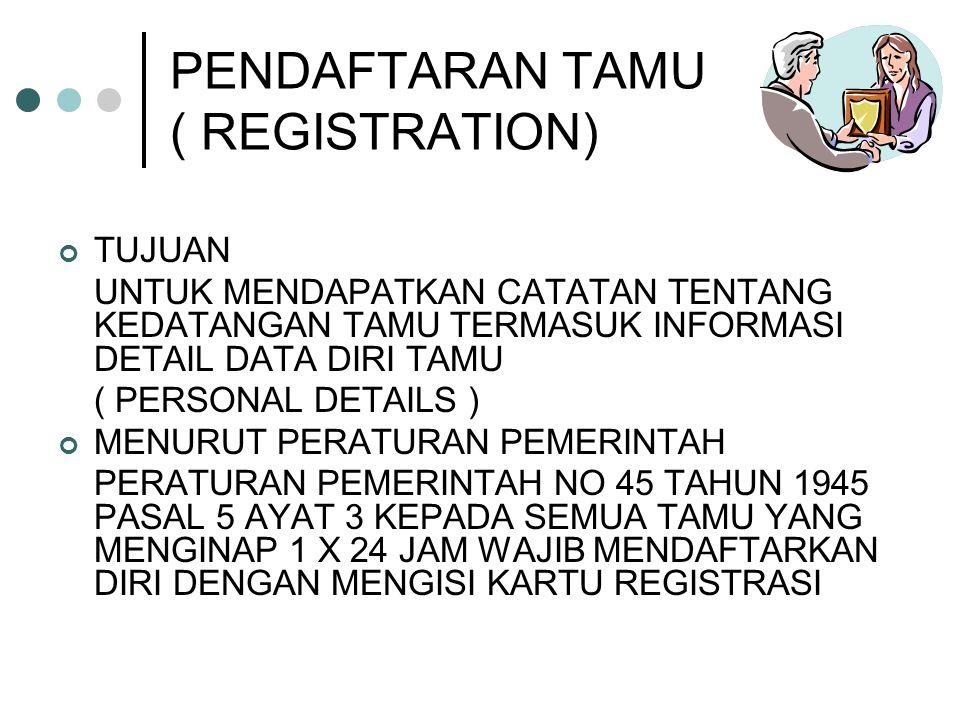 PENDAFTARAN TAMU ( REGISTRATION)