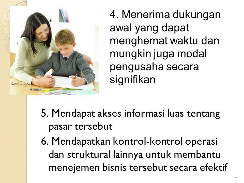 5. Mendapat akses informasi luas tentang pasar tersebut