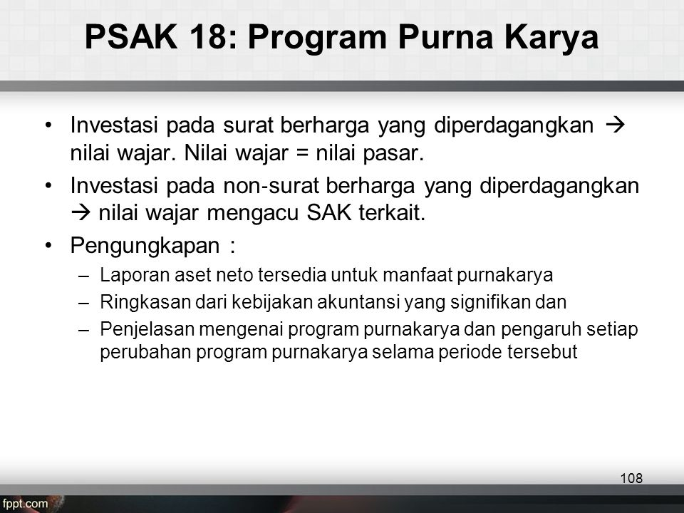 PSAK 18: Program Purna Karya