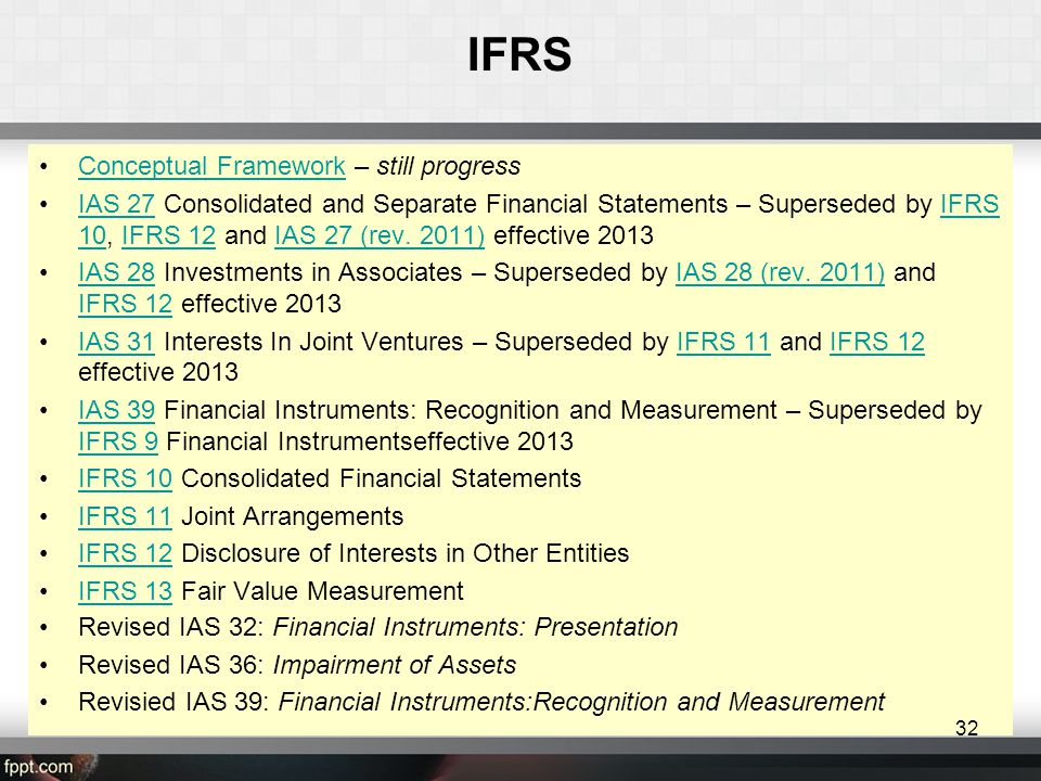 IFRS Conceptual Framework – still progress