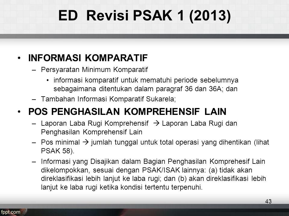 ED Revisi PSAK 1 (2013) INFORMASI KOMPARATIF