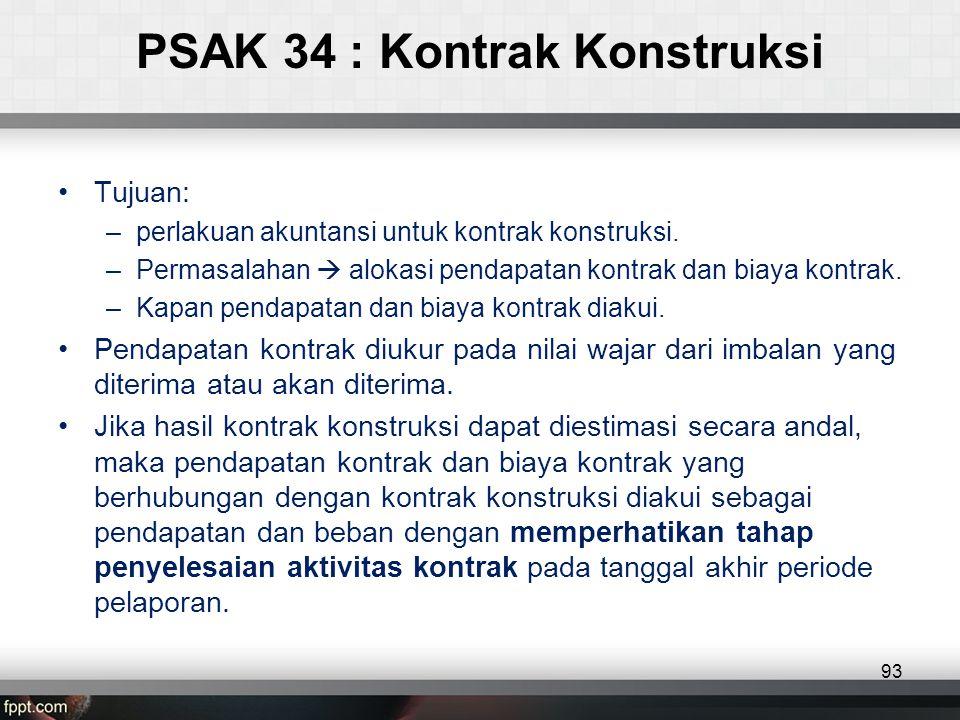 PSAK 34 : Kontrak Konstruksi