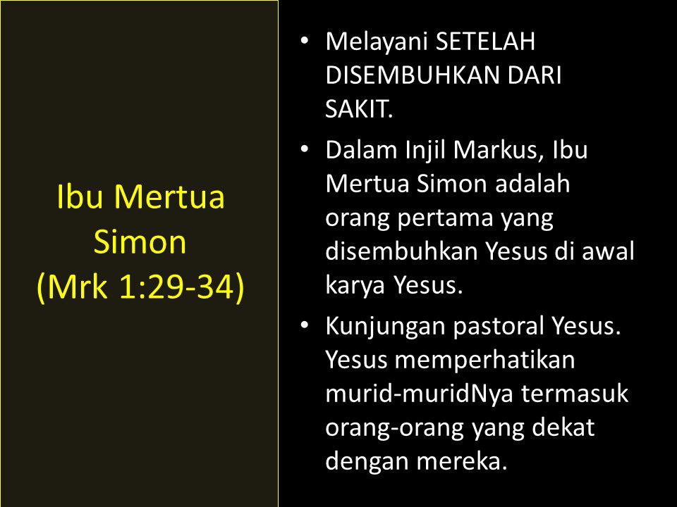 Ibu Mertua Simon (Mrk 1:29-34)