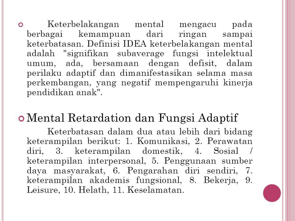 Mental Retardation dan Fungsi Adaptif