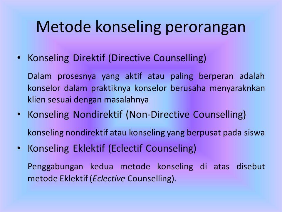 Metode konseling perorangan