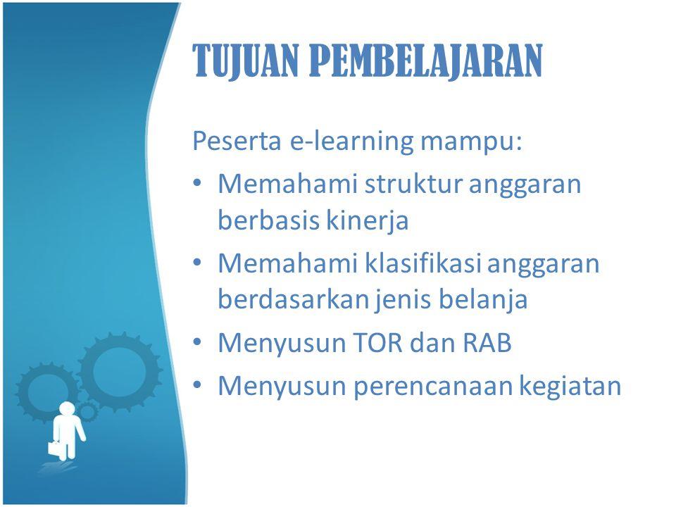 TUJUAN PEMBELAJARAN Peserta e-learning mampu: