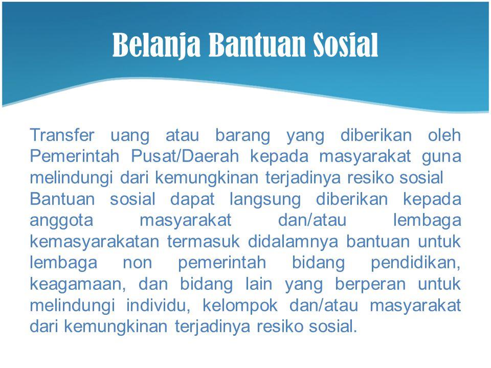 Belanja Bantuan Sosial