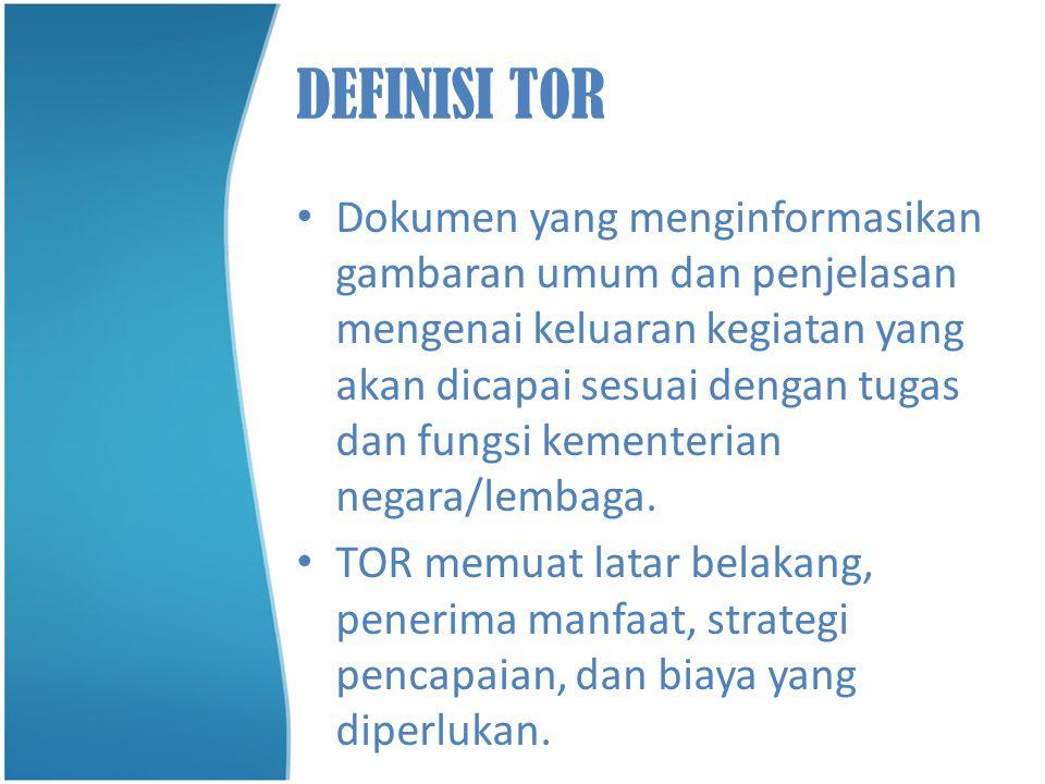 DEFINISI T0R