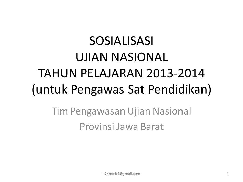 Tim Pengawasan Ujian Nasional Provinsi Jawa Barat