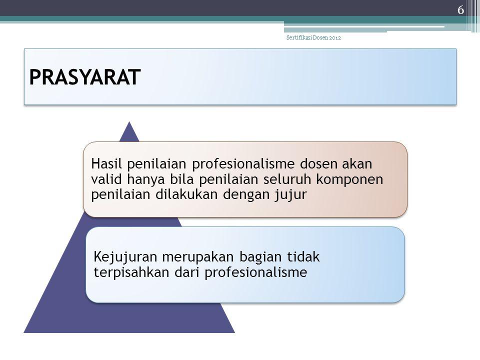 Sertifikasi Dosen 2012 PRASYARAT.