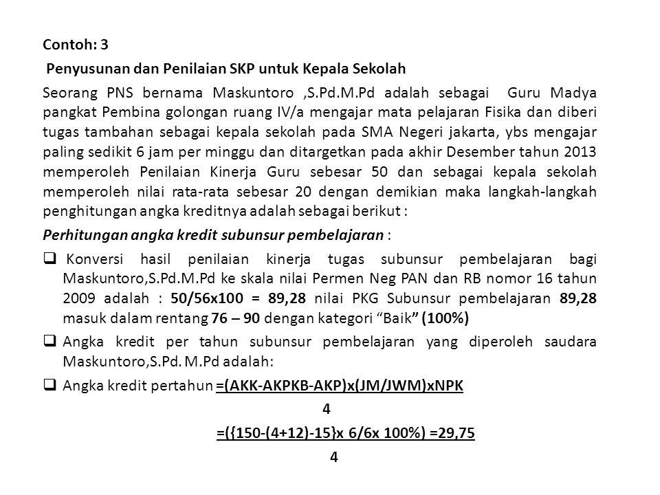 Contoh: 3 Penyusunan dan Penilaian SKP untuk Kepala Sekolah.