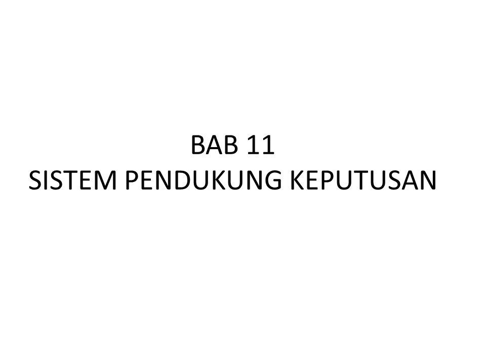 BAB 11 SISTEM PENDUKUNG KEPUTUSAN