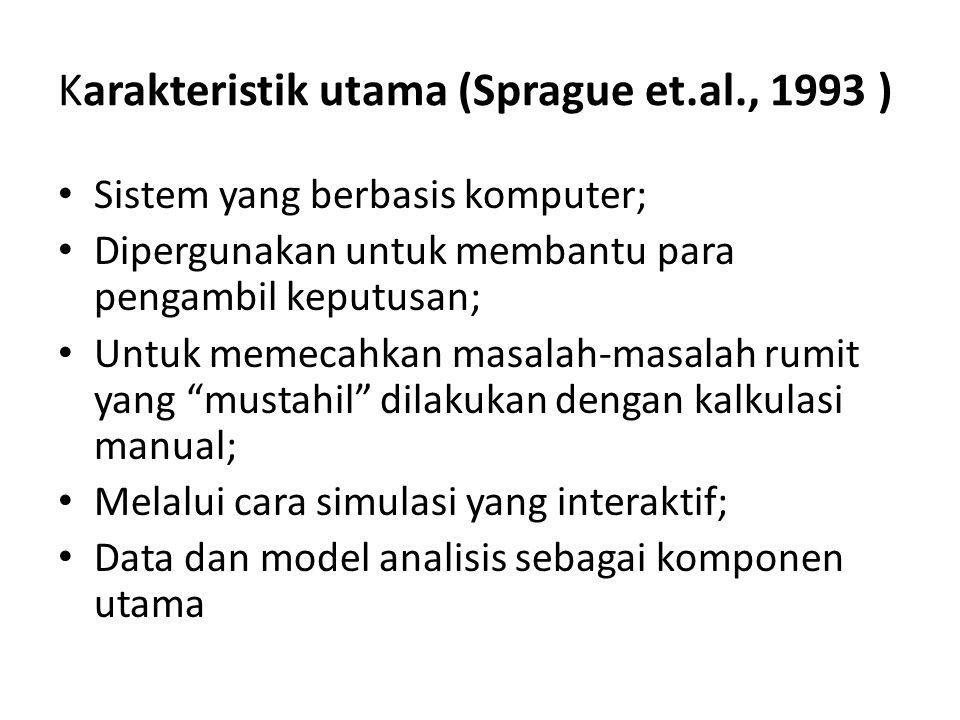 Karakteristik utama (Sprague et.al., 1993 )