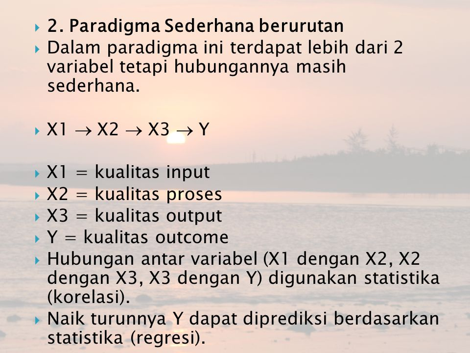 2. Paradigma Sederhana berurutan