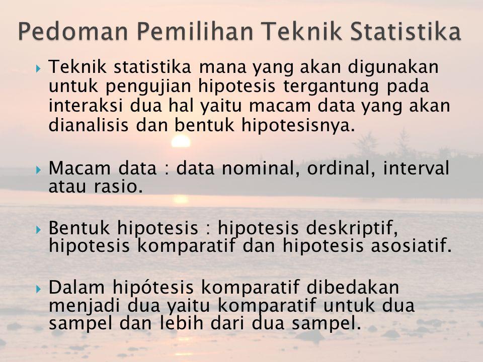 Pedoman Pemilihan Teknik Statistika