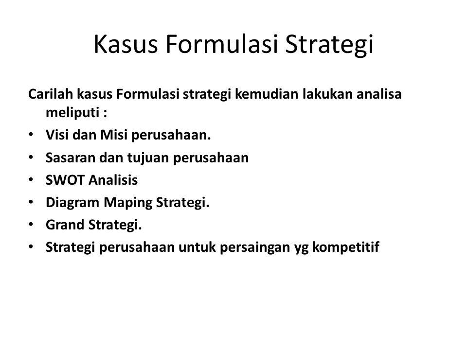 Kasus Formulasi Strategi